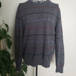 IZOD dark grey wool blend long sleeve sweater